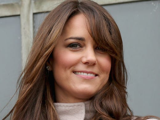 Kate Middleton, Duchess of Cambridge,  opened the London Natural History Museum's new Treasures Gallery on Tuesday, while also showcasing her new sideswept bangs.