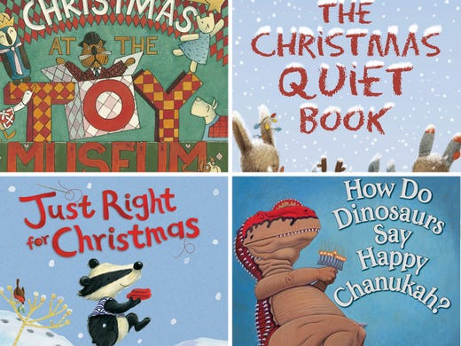 Flip through illustrations from four picture books kids will love for the holidays,  recommended by USA TODAY's Bob Minzesheimer.