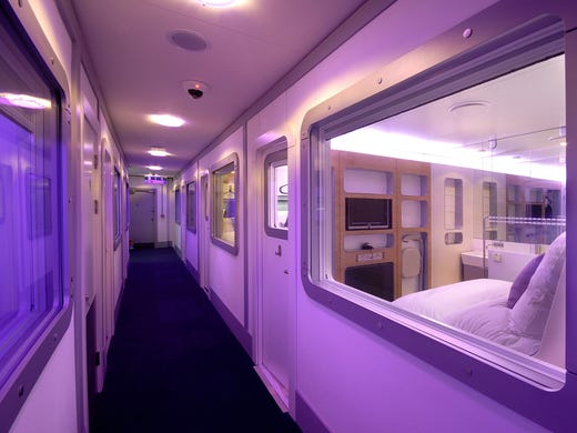 Yotel, the airport hotel inside Terminal 4 at London Heathrow, is perfect for trans-Atlantic layovers.