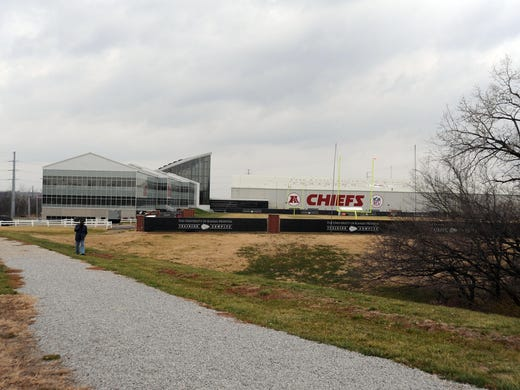 A general view of the Kansas City Chiefs practice facility Saturday afternoon after Chiefs player Jovan Belcher committed a murder and suicide.