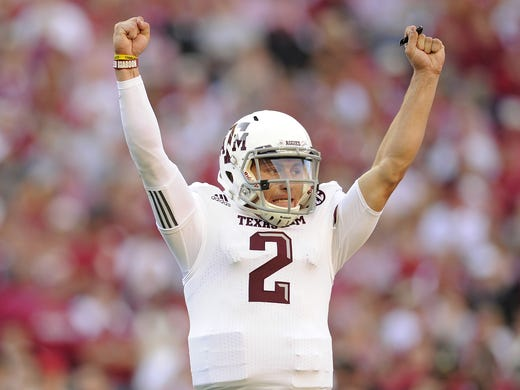 Johnny Manziel became the first freshman to win the Heisman Trophy.