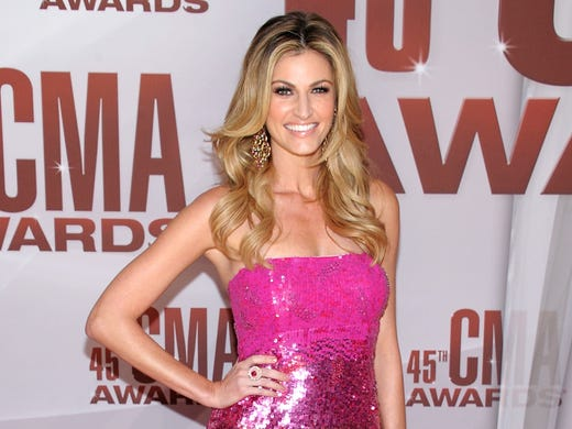Erin Andrews attends the CMA Awards at the in Nashville on Nov. 9, 2011.