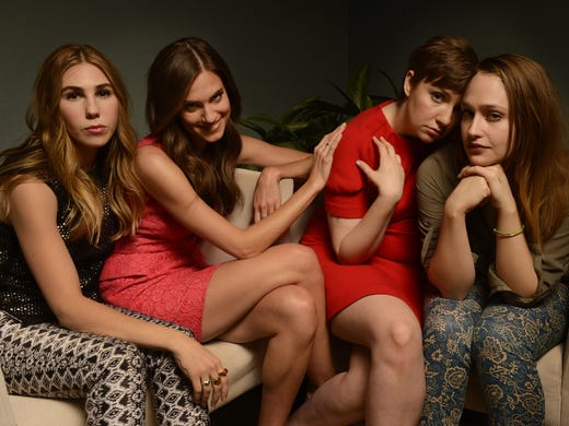 HBO's 'Girls' hit television series begins its second season Sunday at 9 p.m. ET.  USA TODAY's Donna Freydkin interviewed the leads of the series, from left: Zosia Mamet, Alison Williams, Lena Dunham,  and Jemima Kirke.