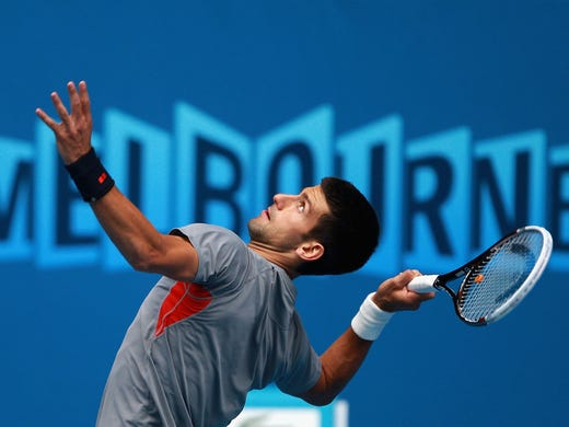 Two-time defending champ Novak Djokovic of Serbia will chase his third title in a row, and that has not been done in the Open era.