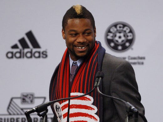 Louisville defender Andrew Farrell was the top pick in the MLS draft, selected by the New England Revolution. The son of a missionary, Farrell lived in Peru.