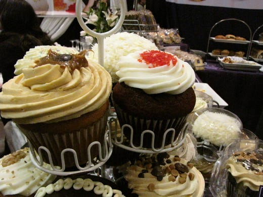 Cupcakes from Sweet Sam's of the Bronx, N.Y., were on display at the Winter Fancy Food Show in San Francisco.