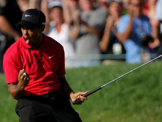 Tiger Woods' last major victory came in thrilling fashion at the 2008 U.S. Open at Torrey Pines on basically one leg, as he announced days later that he'd miss the remainder of the season for further knee surgery.