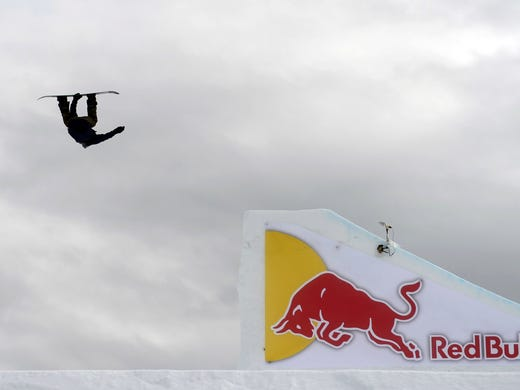 Mark McMorris competes the men's snowboard big air final at the Winter X Games at Buttermilk Mountain in Aspen, Colo., on Saturday.