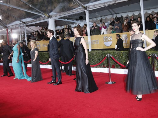 Everyone looks like a winner! A stream of stars paraded their posh picks on the red carpet at the Screen Actors Guild Awards on Jan. 27 in Los Angeles. USA TODAY's Fashion Team hands out its best-dressed awards and sums up all the sizzling SAGs style. Reporting by Bryan Alexander, Cindy Clark, Bill Keveney, Andrea Mandell and Arienne Thompson, USA TODAY