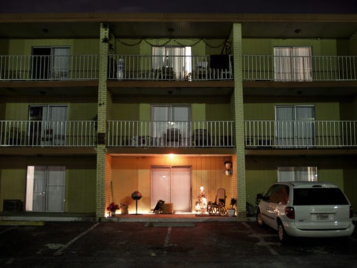 The Remington Inn has become a home for many homeless families in the Orlando area who cannot afford standard rental apartments.