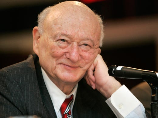 Former New York mayor Ed Koch died Friday.