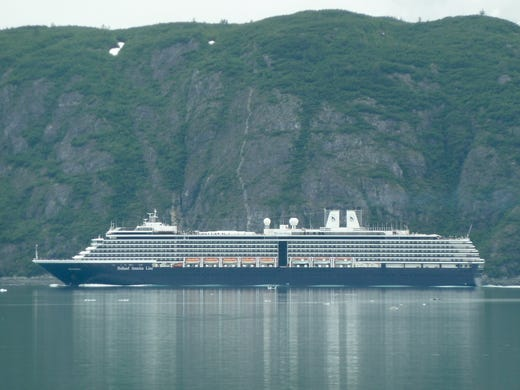 Holland America Line''s 2004- built MV Westerdam measures 82,500 gross tons and carries 1,916 guests.  The ship is 950 feet long by 106 feet wide with a draft of 26 feet.