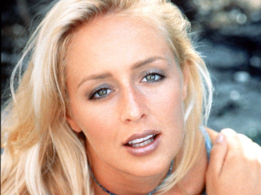 Country singer Mindy McCready, seen here in a 1997 photo, died Sunday of an apparent self-inflicted gunshot wound at her Arkansas home, Cleburne County Sheriff Marty Moss said.