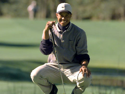 Tiger Woods: Was an accomplished golfer BEFORE he was teen; won first major (1997 Masters) at 21.
