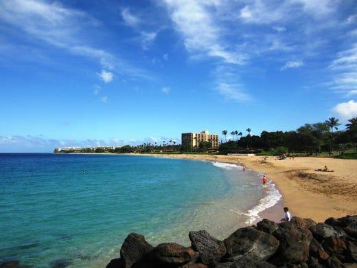 1: Ka'anapali Beach, Lahaina, Hawaii