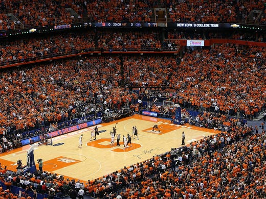 This year, the Carrier Dome housed more than 35,000 fans for the Syracuse vs. Georgetown rivalry game. College basketball arenas, both big and small, make for some of the best atmospheres in sports thanks to eccentric student sections, unique venues and never-ending tradition. USA TODAY Sports ranks the top 10 college hoops arenas based on game time environment.