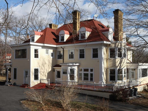 The historic Father Divine house in the Park Hill section of Yonkers, N.Y., was built in the 1890s and sits on nearly 3 acres.  Robert Facey bought the house from the preacher's widow 11 years ago and restored it before putting it on the market.
