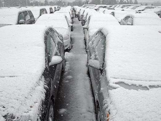 Rental Cars In Richmond Va Airport Rental cars are covered in snow at Dulles International Airport in ...
