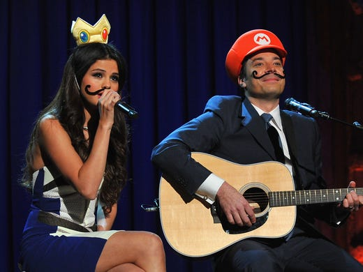 It's official: Jimmy Fallon is taking over for Jay Leno as host of the 'Tonight Show' next spring. Take a look back at Fallon and the celebrity guests he's entertained on 'Late Night With Jimmy Fallon.' Here, Fallon and Selena Gomez perform a 'Mario Kart Duet.'