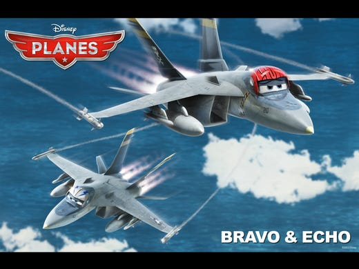 "The Disney film 'Planes' aims to do to the airbound world what Pixar's 'Cars' did for automobiles. It is due to set flight Aug. 9 with a squadron full of quirky characters, so USA TODAY reveals the cast. It includes a 'Top Gun' reunion of Anthony Edwards and Val Kilmer, who both voice F-18 jets. ""When you see them flying, they are going to take your breath away,"" says director Klay Hall."