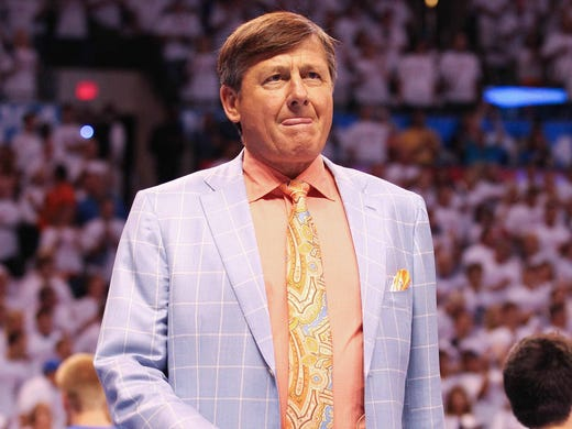 TNT basketball sideline reporter Craig Sager is know for his flashy suits and sports coats. Flip through this gallery for his loudest, like this one from the 2012 Western Conference finals.