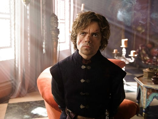 Tyrion Lannister (Peter Dinklage):For holding King's Landing and the Iron Throne until his father, Tywin, and his forces arrive to thwart Stannis Baratheon, Tyrion is rewarded with relative banishment to a small chamber where he recovers from his battle wounds. No longer the magisterial Hand of the King, the crafty Tyrion must devise a way to rebound.