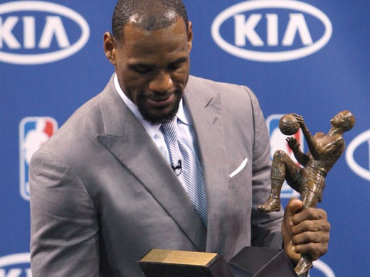 Can anyone dethrone LeBron James? USA TODAY Sports' NBA power rankings committee (USA TODAY Sports' Sean Highkin, Adi Joseph, Kevin Spain and Jeff Zillgitt; Hoopsworld.com's Lang Greene and Steve Kyler; and the Detroit Free Press' Vince Ellis) voted each week on MVP and rookie of the year. Here's our final MVP ballot (points on a 7-5-3-2-1 scale).