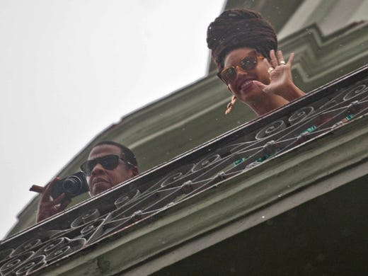 Peekaboo! Power couple Beyonce and Jay-Z celebrated their fifth wedding anniversary with a trip to Cuba. On Friday, they took in the view from the balcony at the Saratoga Hotel in Old Havana.