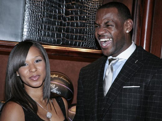 LeBron James' fiancée, Savannah Brinson, has made a point of avoiding the public spotlight. But it will shine brighter after this summer, when they tie the knot after years together. Flip through this gallery for shots of some of her relatively infrequent public appearances, such as this one in 2008.