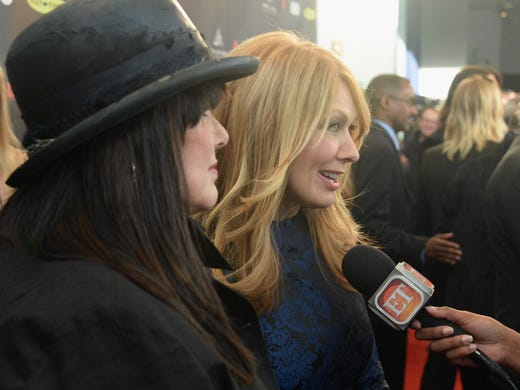 Inductees Ann Wilson, left,  and Nancy Wilson of Heart speak to the press at the Rock and Roll Hall of Fame induction ceremony at Nokia Theatre L.A. Live on Thursday in Los Angeles.