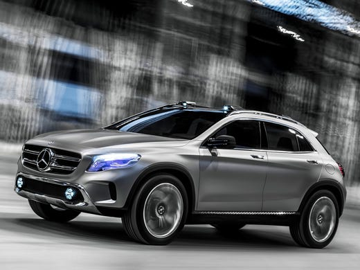 Mercedes-Benz chose the Shanghai show this week to unveil its GLA Concept SUV. China is a hot market for small, luxury SUVs.