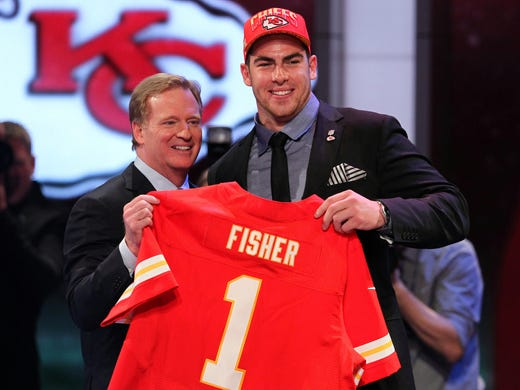 1. Eric Fisher, OT, Central Michigan to the Kansas City Chiefs