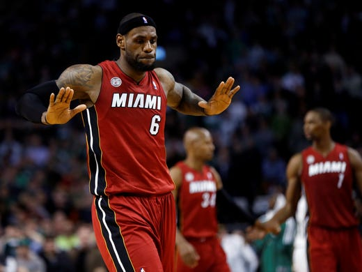 MVP: LeBron James, Miami Heat. James won his fourth MVP in five years to join Kareem Abdul-Jabbar (six), Michael Jordan (five), Bill Russell (five) and Wilt Chamberlain (four) as the only players with so many.