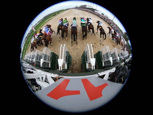 A look at the start of the 2013 Kentucky Derby won by Orb
