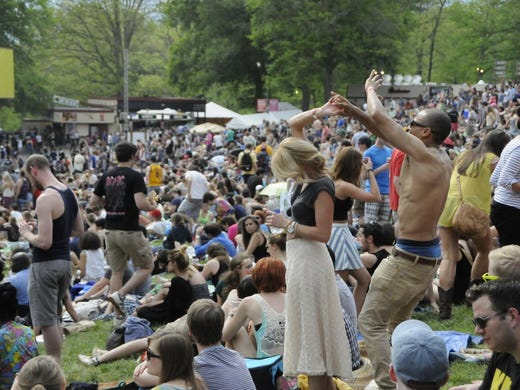 Fans came ready to party rain or shine at the Sweetlife Festival in Columbia, Md. Check out some of the sights captured by USA TODAY's Nahal Mottaghian.