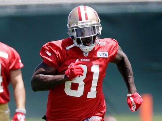 The San Francisco 49ers acquired wide receiver Anquan Boldin in a trade with the Baltimore Ravens.