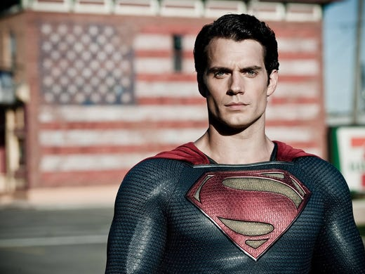 The character of a superhero is iconic by definition and arguably none more so than that of Superman. Henry Cavill is the latest actor to don the iconic cape and 'S' shield in the upcoming movie 'Man of Steel.'