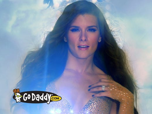 NASCAR driver Danica Patrick for GoDaddy.com is the only celebrity endorser who compares with popular mascots, with a 12.72% social-media buzz rating in a Synthesio study.