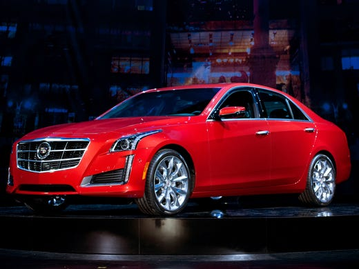 The redesigned 2014 Cadillac CTS midsize luxury sedan at its world debut in the Jazz at Lincoln Center theater ahead of the New York Auto Show in March.