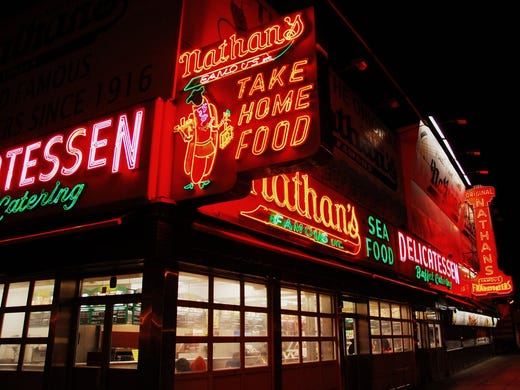 On Coney Island, Nathan's Famous, long known for their outstanding hot dogs, recently opened a clam bar and serves wine with their wieners, too.
