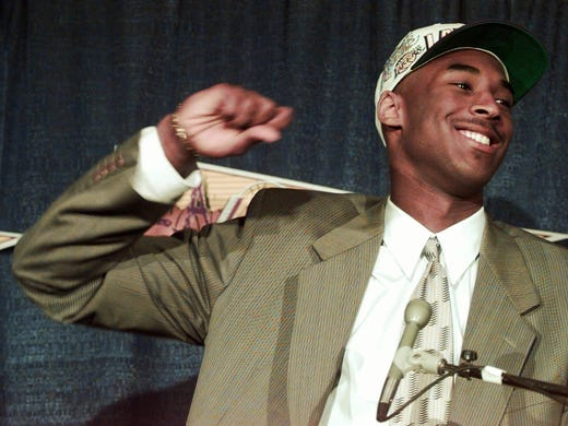 Kobe Bryant was picked No. 13 in 1996 by the Hornets, but Charlotte turned around and dealt him to the Lakers for Vlade Divac about two weeks later.