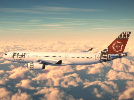 The new livery of Fiji Airways.
