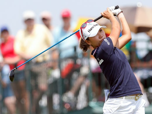 I.K. Kim of South Korea climbed the leaderboard during the first round.