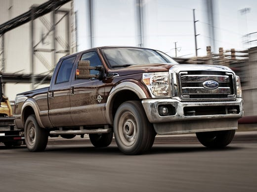 No. 1 target for thieves among 2010-12 vehicles: Ford F-250 Super Duty (2011 here).