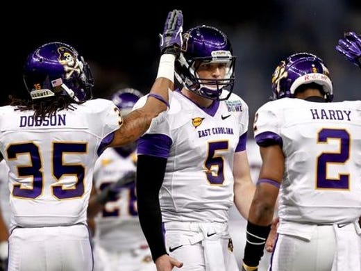 50. East Carolina: The Pirates join Marshall and Tulsa as the three best teams in Conference USA. Look for the season finale between the Pirates and the Thundering Herd to determine the East Division. Can ECU be one of the more surprising teams to come out of Conference USA? Without a doubt: ECU is very potent offensively and should have its best defense under fourth-year coach Ruffin McNeill, so a conference championship is very much a possibility.