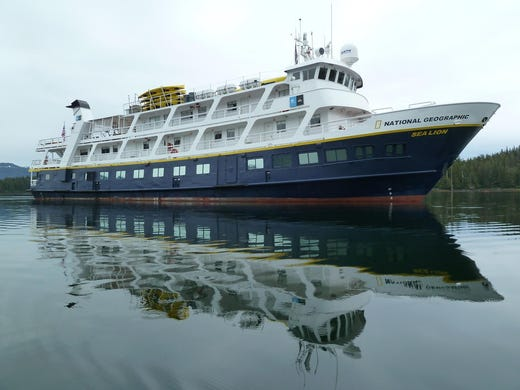 The 630-ton, 152-by-31-foot National Geographic Sea Lion is operated by Lindblad Expeditions on expedition-style cruises throughout the northeastern Pacific Ocean, from Panama to the Sea of Cortez, the Columbia River and Alaska.