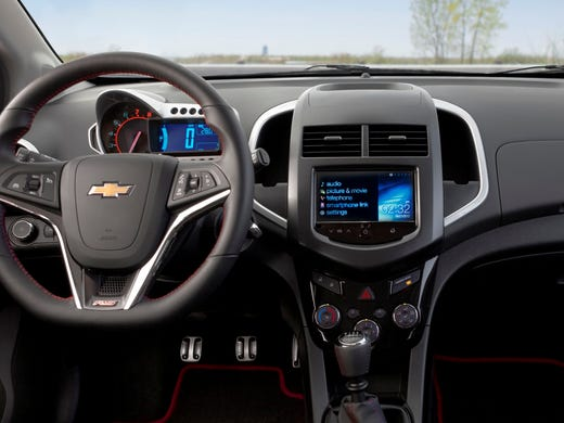 The system in the Chevrolet Sonic RS is relatively simple looking