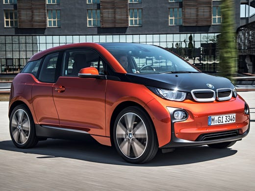 BMW's electric car, the i3, is designed to be compact outside but roomy inside