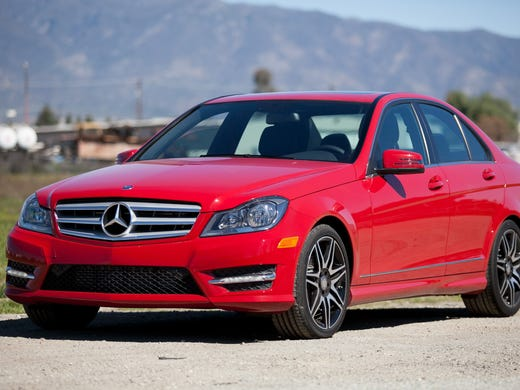 The most stolen luxury car in the study was the Mercedes-Benz C Class, shown here as the C250. Thieves have stolen 485 of the model-year 2010 to 2012s so far.