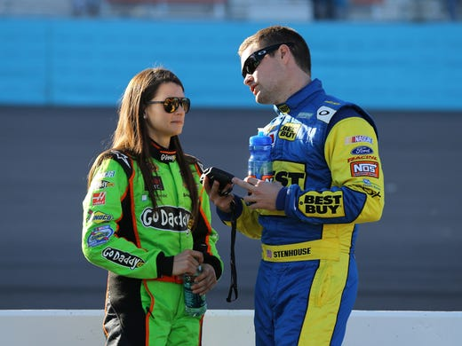 Danica Patrick with her boyfriend Ricky Stenhouse Jr.